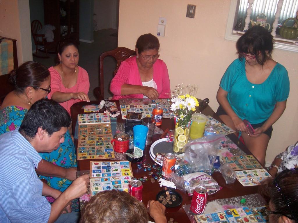 Family playing loteria - yoursassyself.com