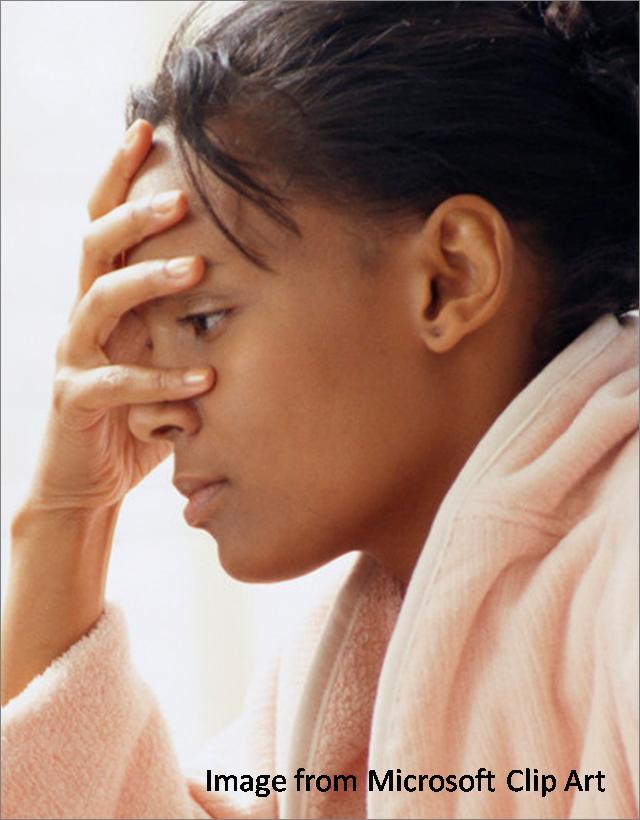 worried woman