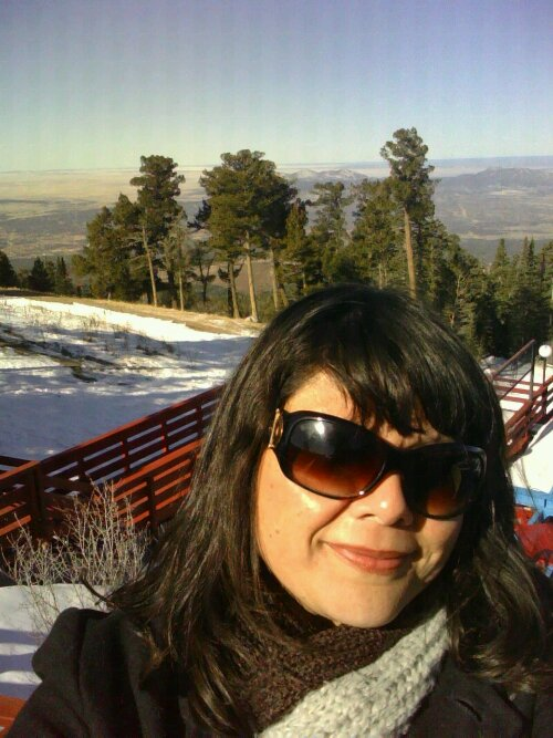 Me ,10,000+ ft up, at the top of Sandia Mountain