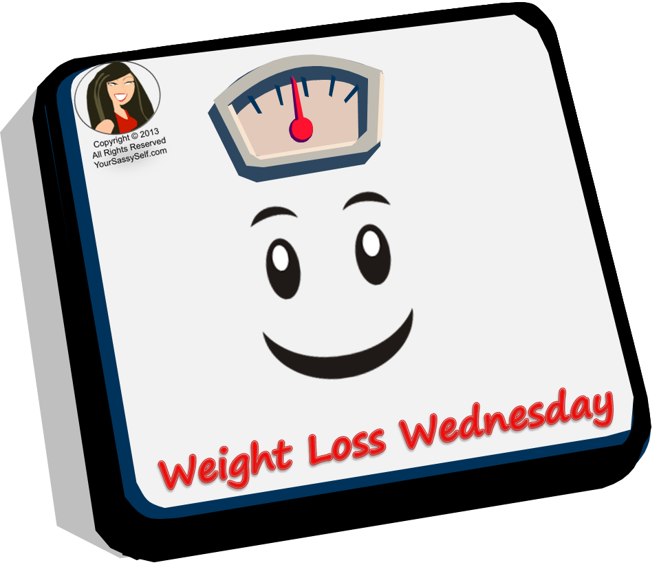 Your Sassy Self's Weight Loss Wednesday logo - yoursassyself.com