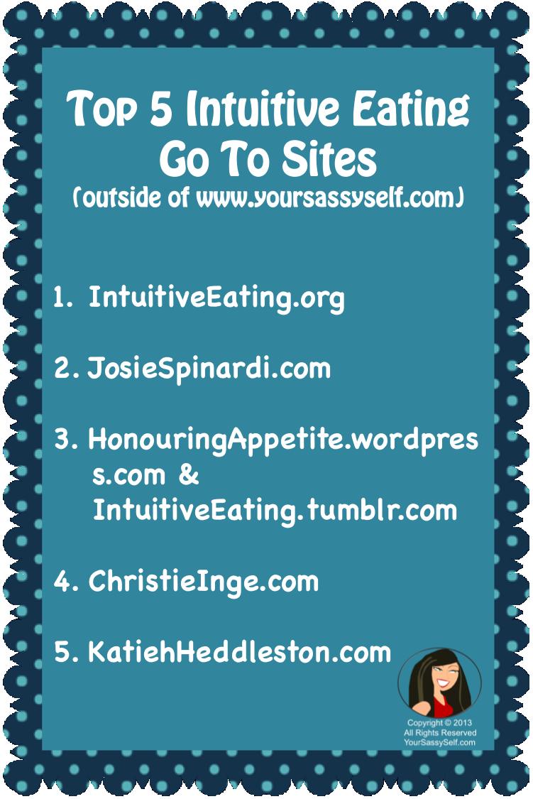 Top 5 intuitive Eating Site - yoursassyself.com