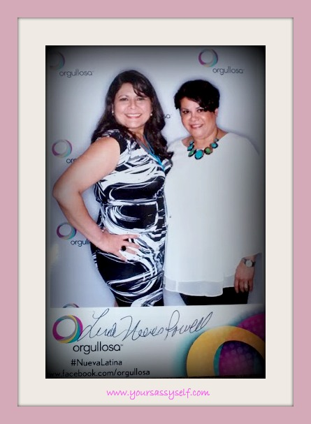 Me and Linda Nieves-Powell-The Nueva Latina Monologues #HISPZ14 @Orgullosa