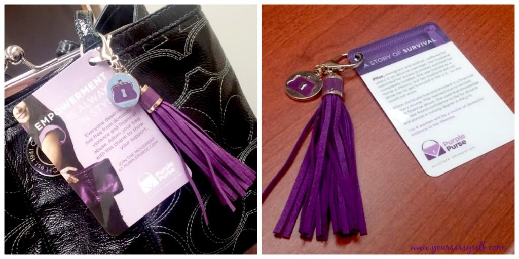 Allstate Purple Purse Charms-yoursasssyself.com