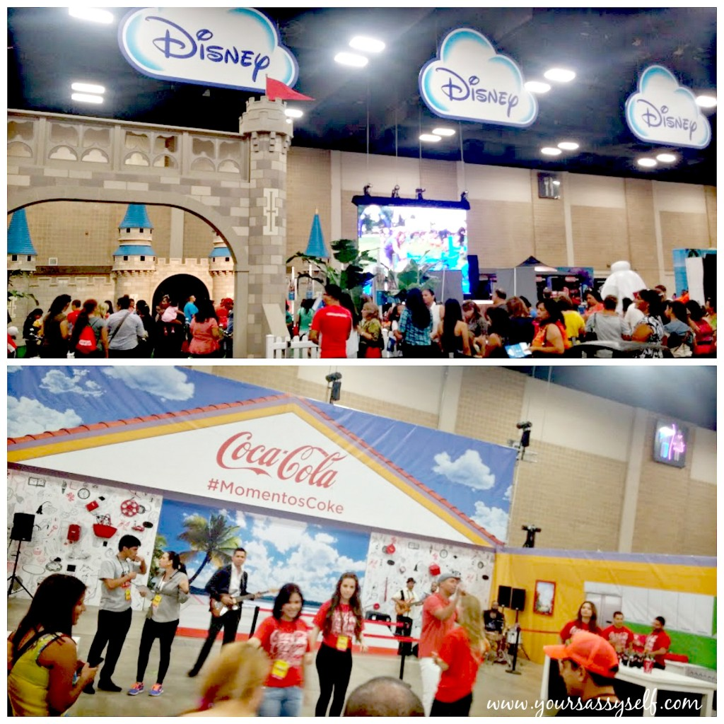 Disney & CocaCola booths at #FestivalPeople-yoursassyself.com