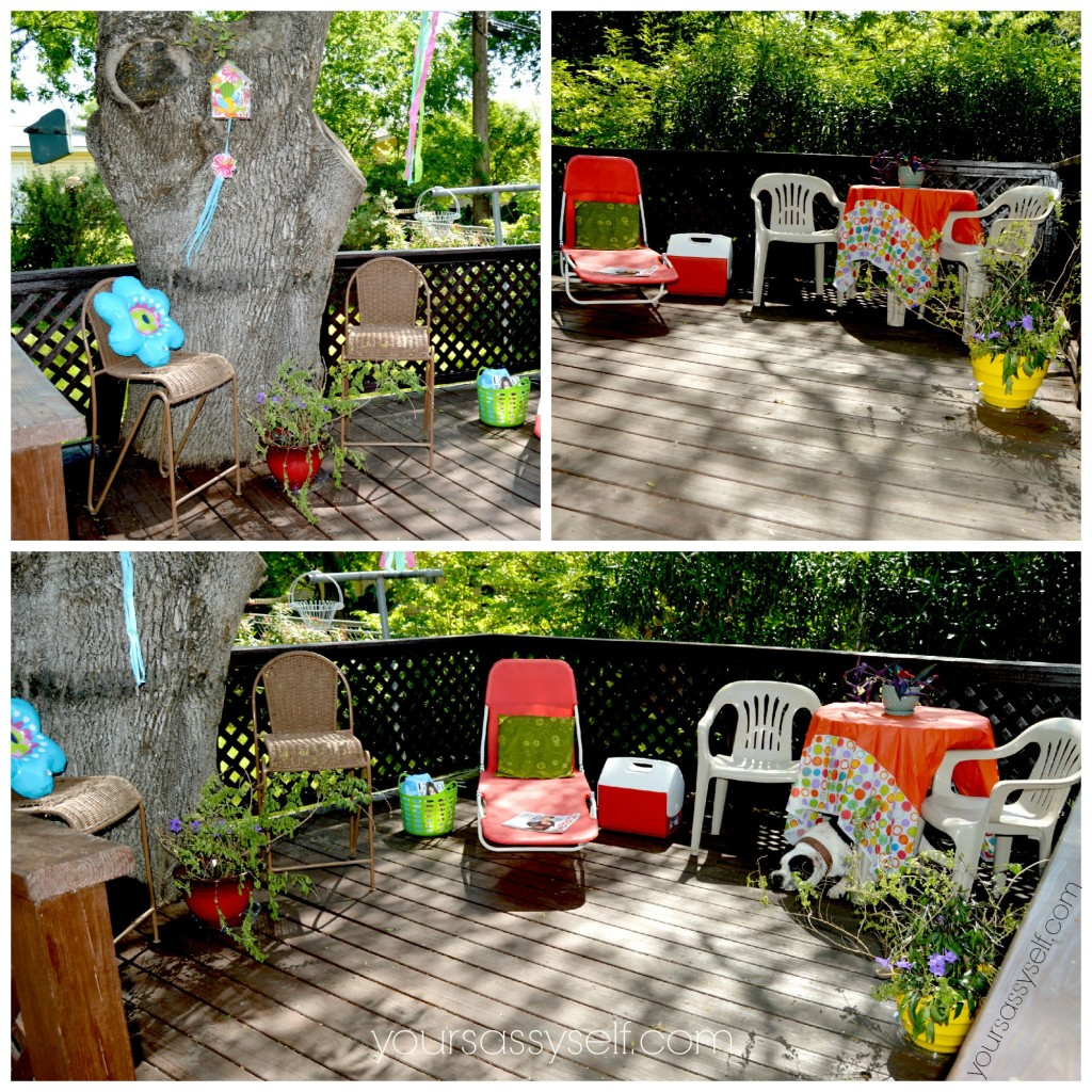 Decorated Deck Accentuated with Planters-yoursassyself.com