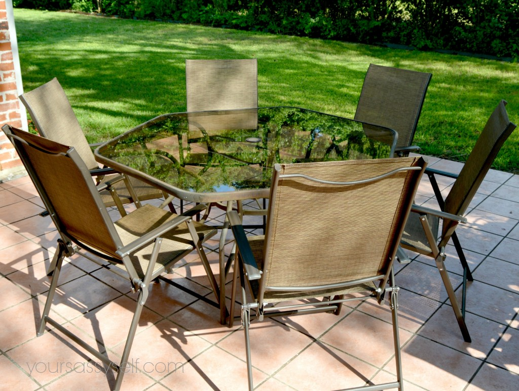 mixing old and new pieces to spruce up the patio your sassy self