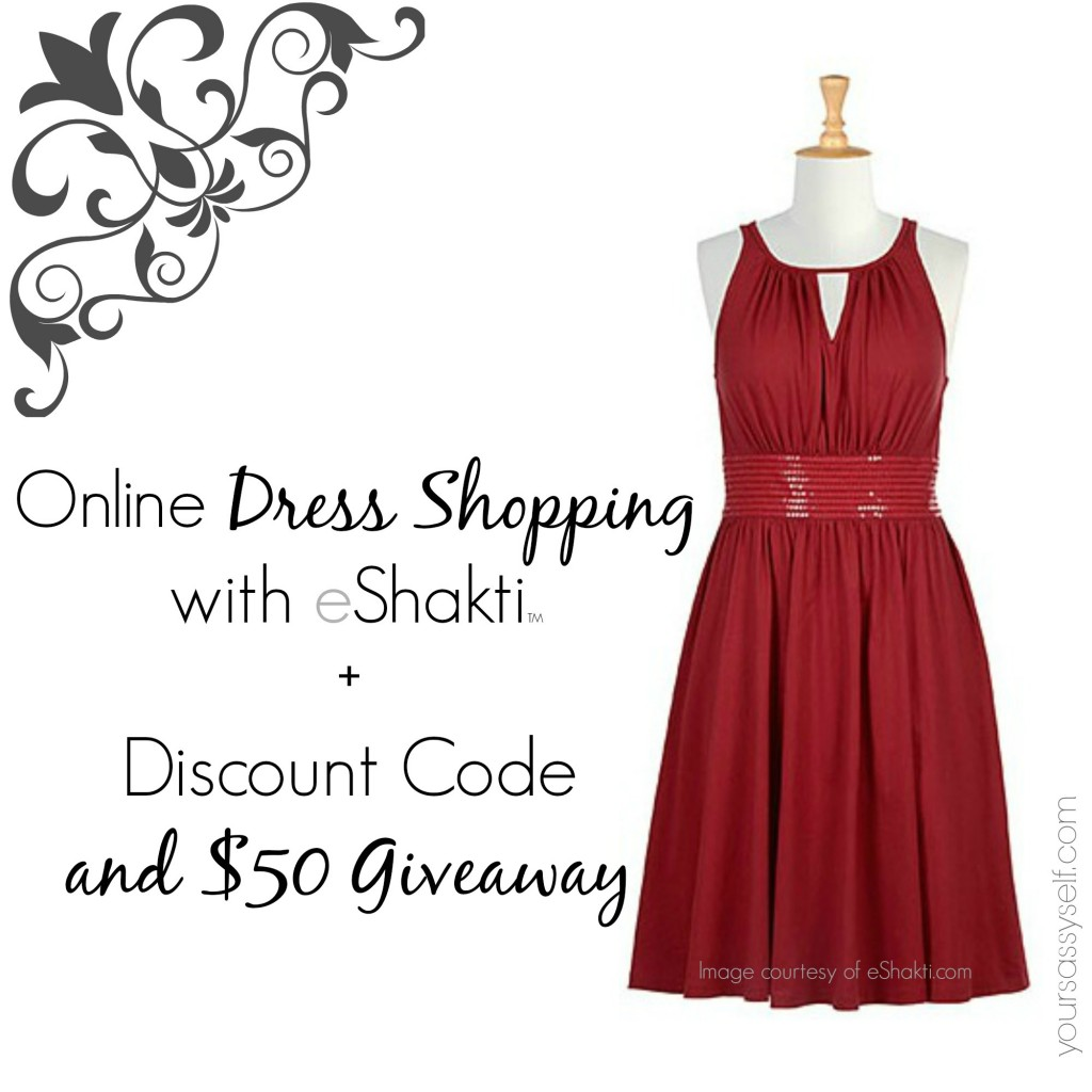 Online Dress Shopping with eShakti with coupon code and giveaway - yoursassyself.com