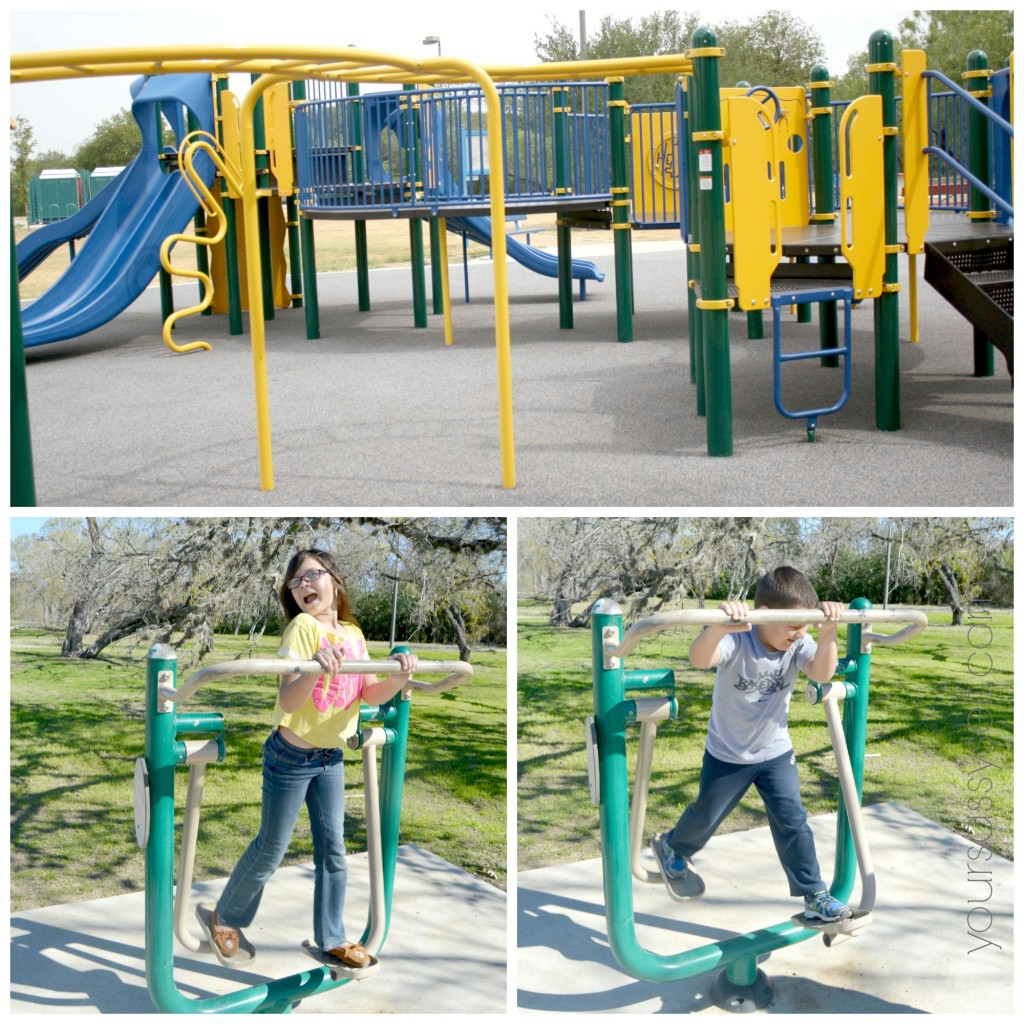 Kids Playing on Outdoor Fitness Equipment - yoursassyself.com