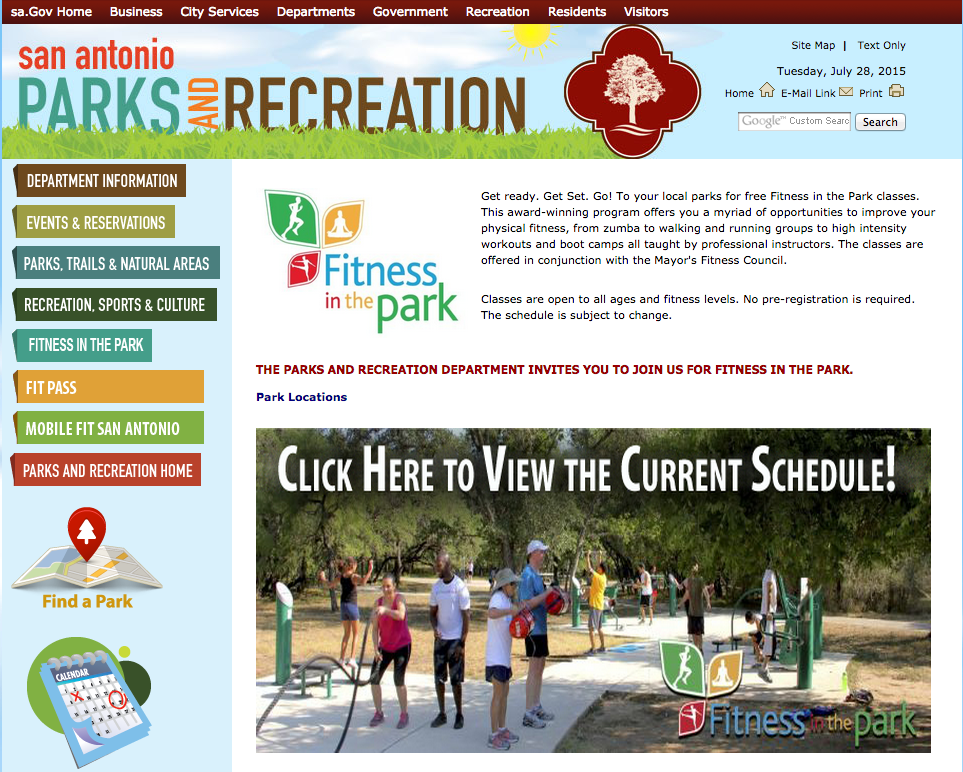 Screen Shot Fitness in the Park - yoursassyself.com