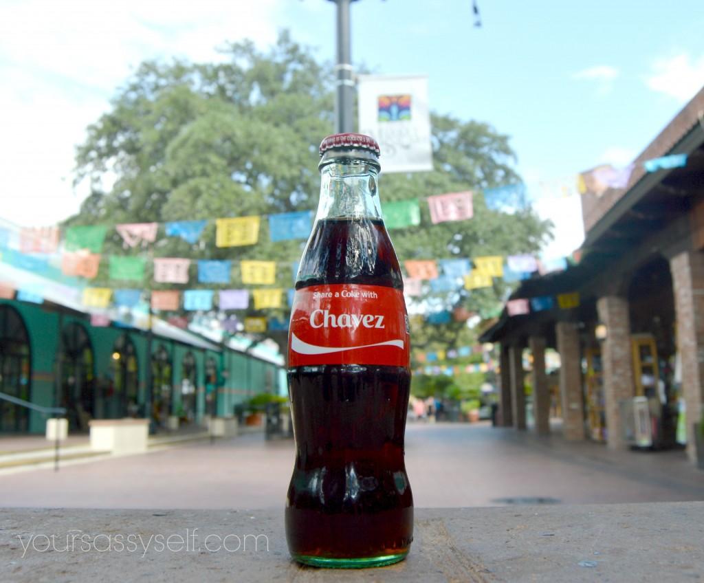 Coca-Cola bottle with Chavez on it - yoursassyself.com
