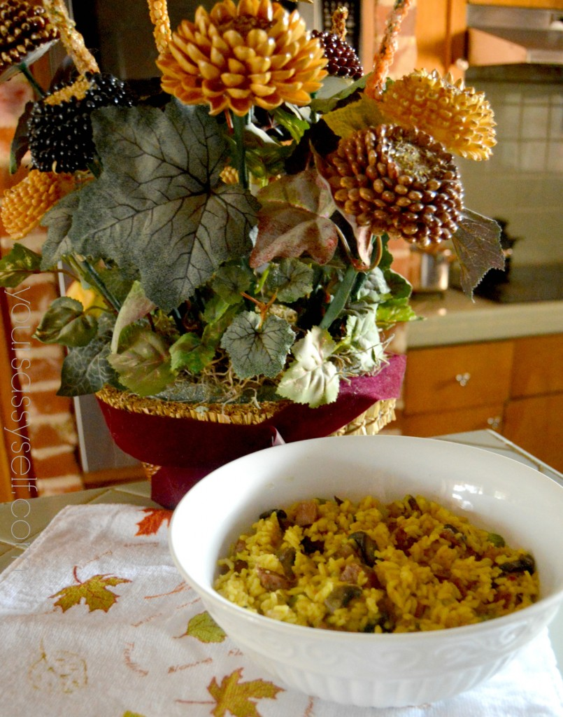 Mexican Thanksgiving Side - Rice Stuffing - yoursassyself.com