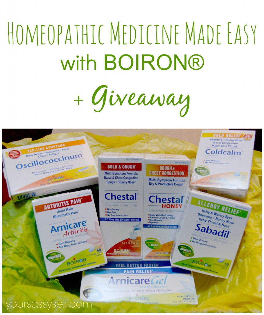 Homeopathic Medicine Made Easy with BOIRON® + Giveaway - yoursassyself.com