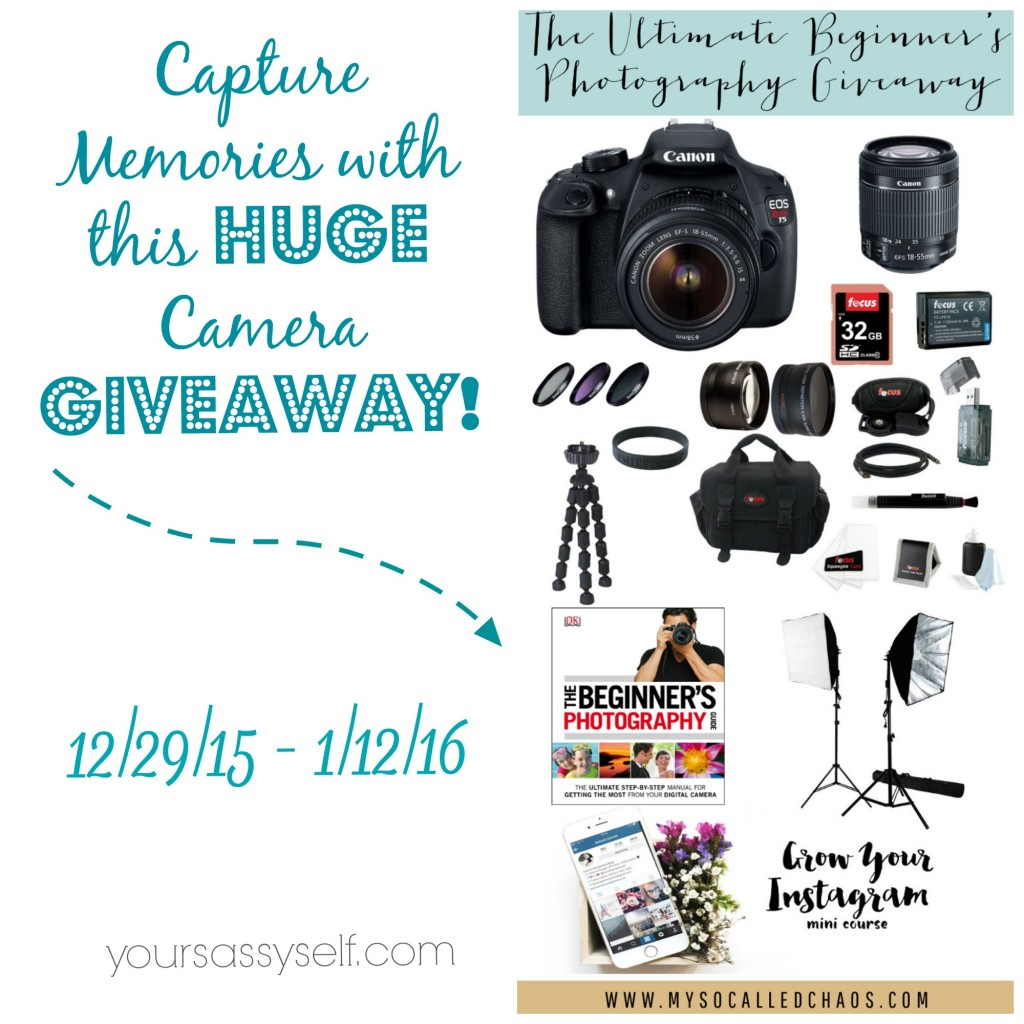 Memories with Huge Camera Giveaway - yoursasyself.com