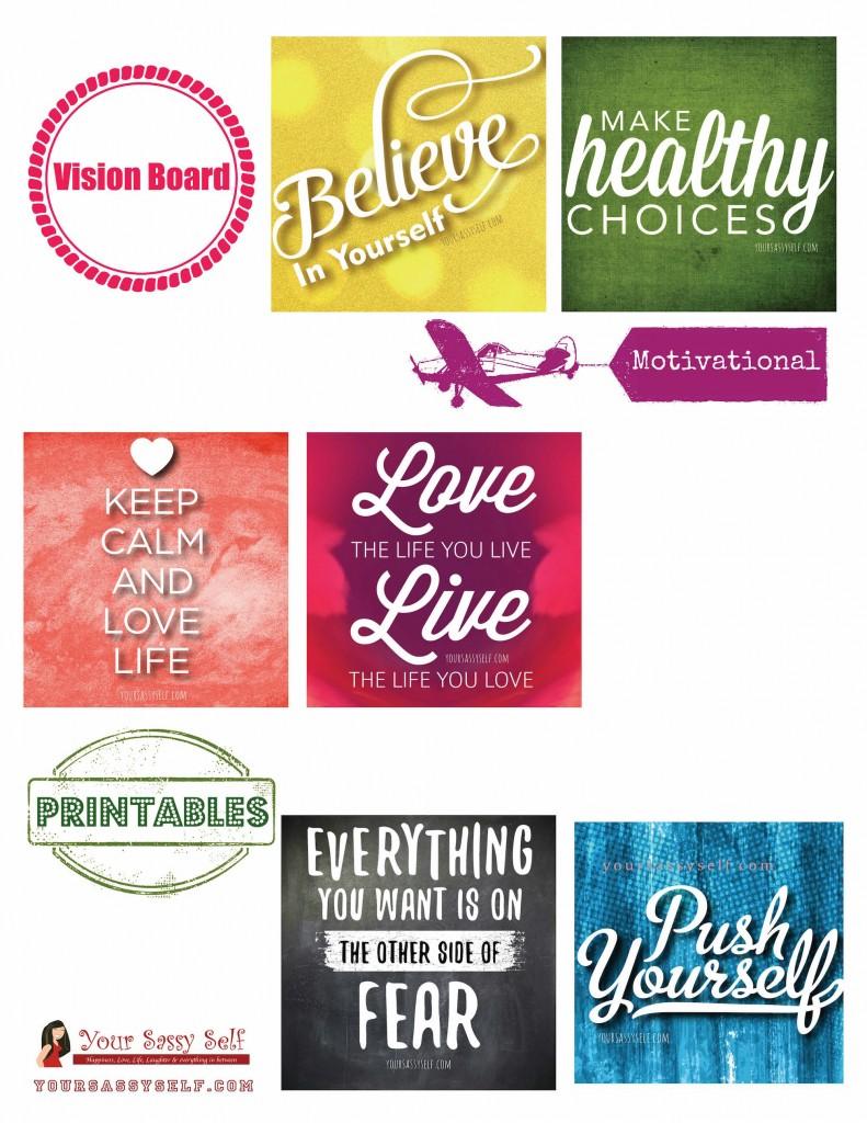 Vision Board Motivational Printables - yoursassyself.com