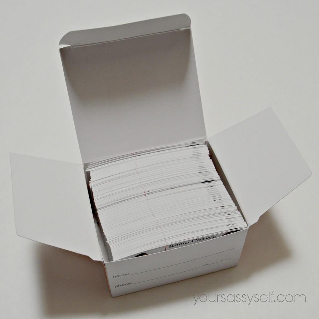 Box of Business Cards - yoursassyself.com