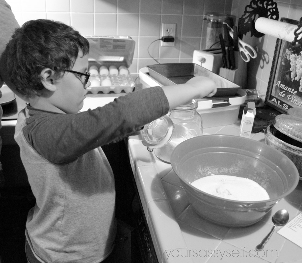 Boy helping in kitchen - yoursassyself.com