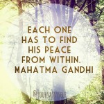 Finding the Peace Within