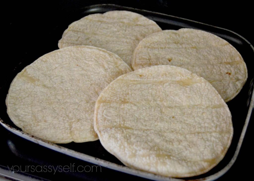 Warming corn tortillas on griddle - yoursassyself.com