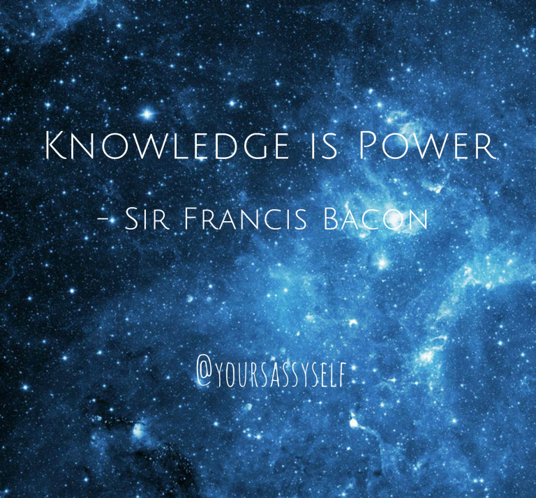 Knowledge is power quote