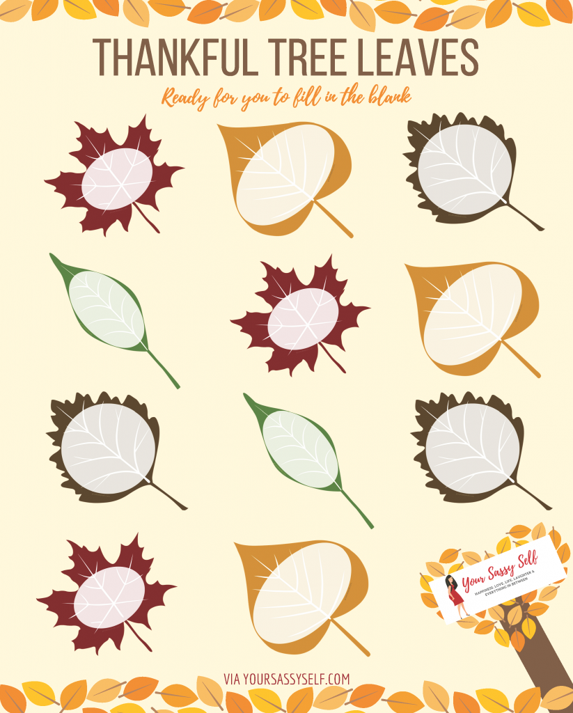 Juicy image pertaining to thankful tree printable