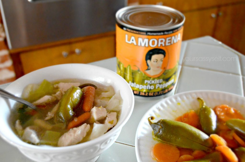 chicken-soup-topped-with-la-morena-jalapenos-yoursassyself-com