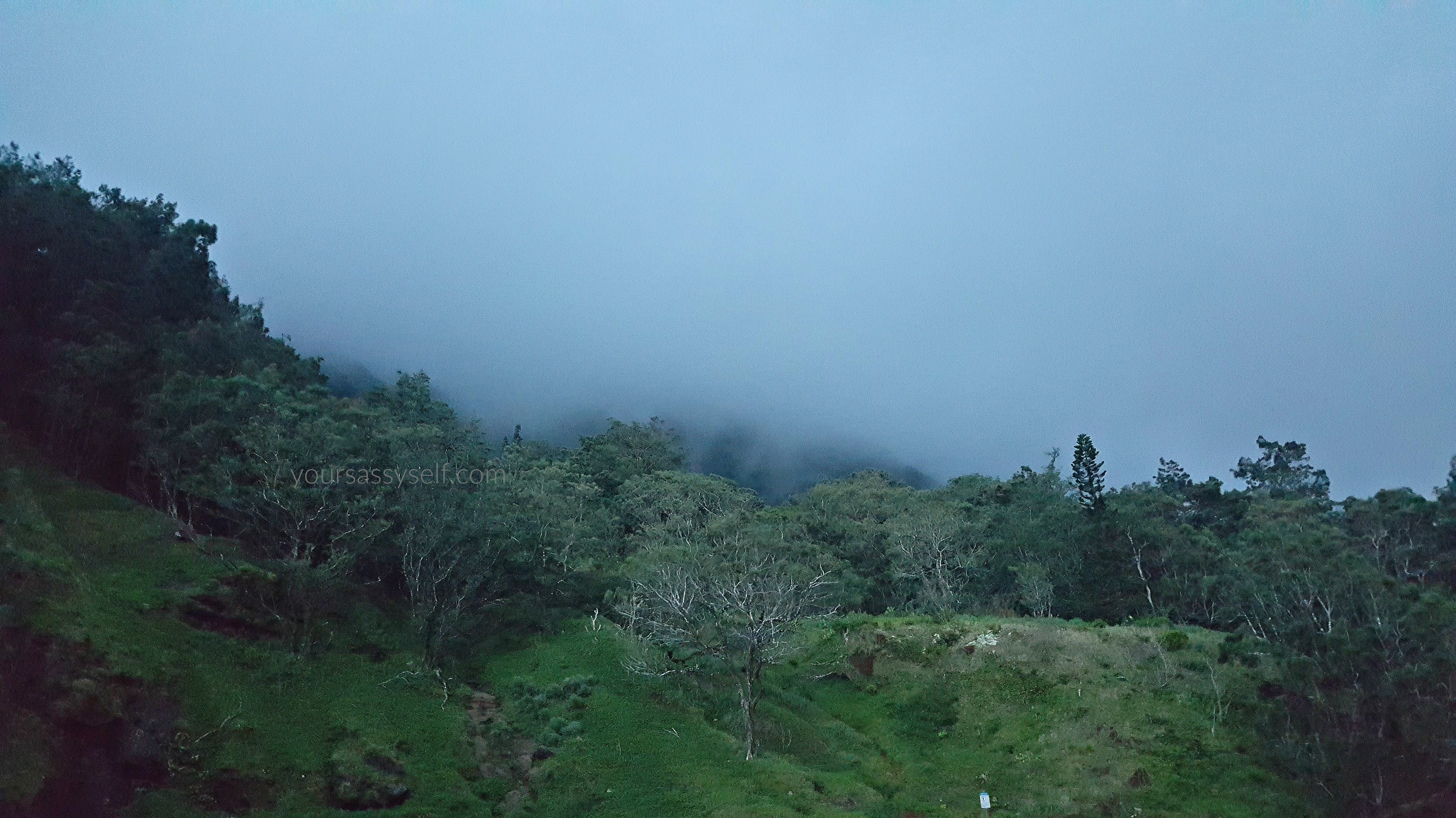 Cloud covered Mountain Tops at Pali Lookout - yoursassyself.com