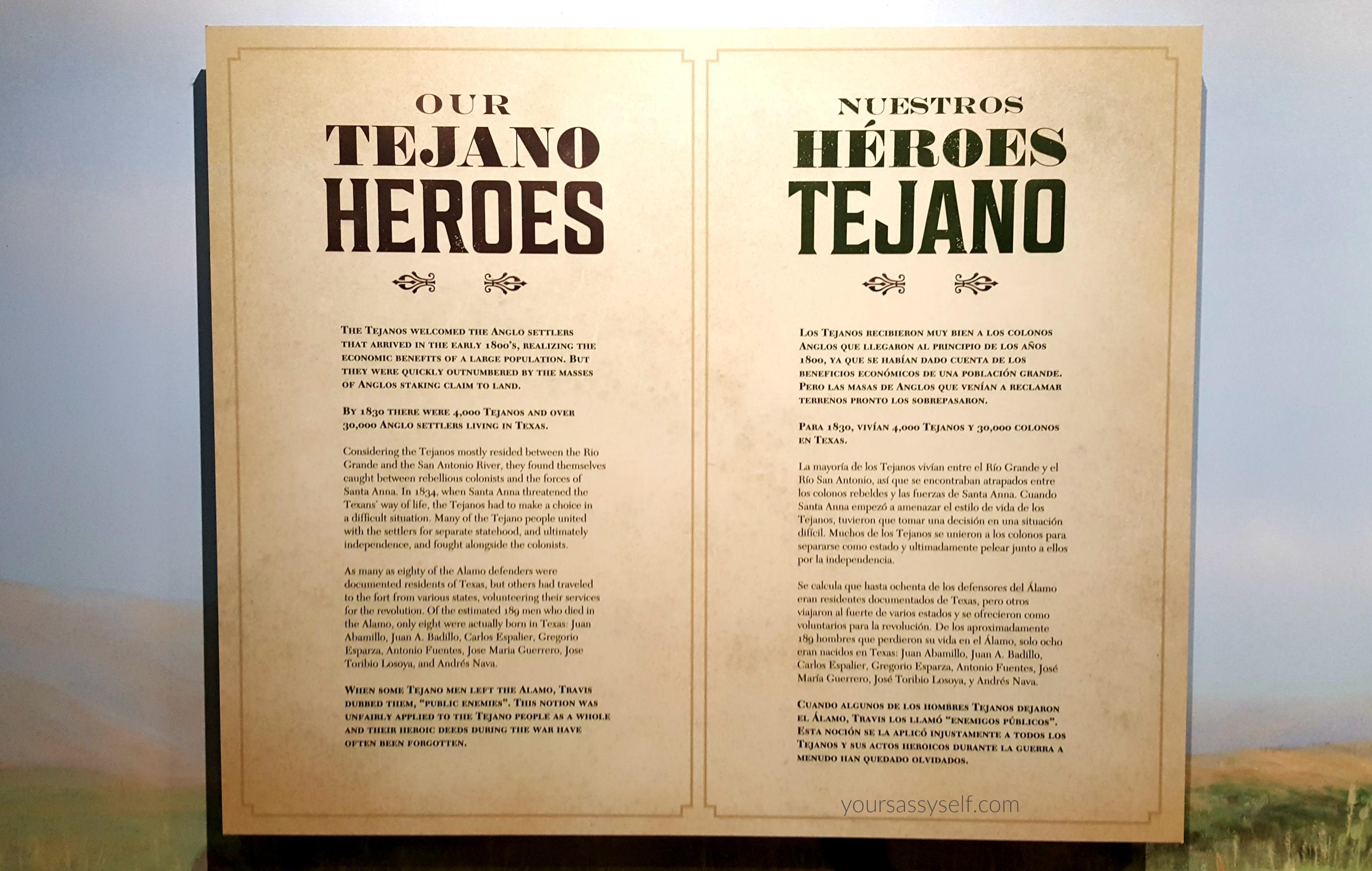 Bilingual Info Signage at Battle for Texas - yoursassyself.com