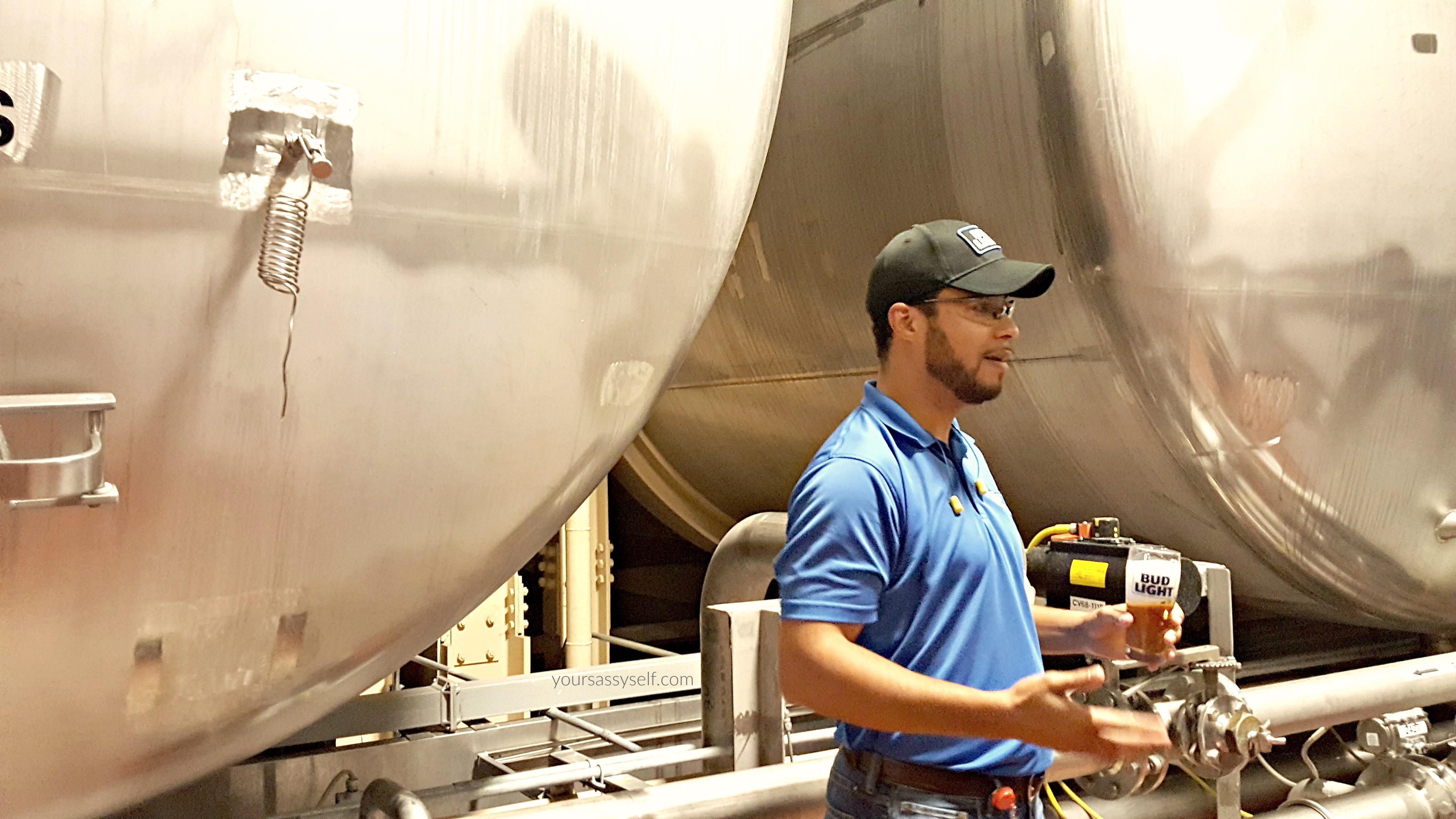 Bud Light Brewmaster Sharing Proper Pour Technique - yoursassyself.com