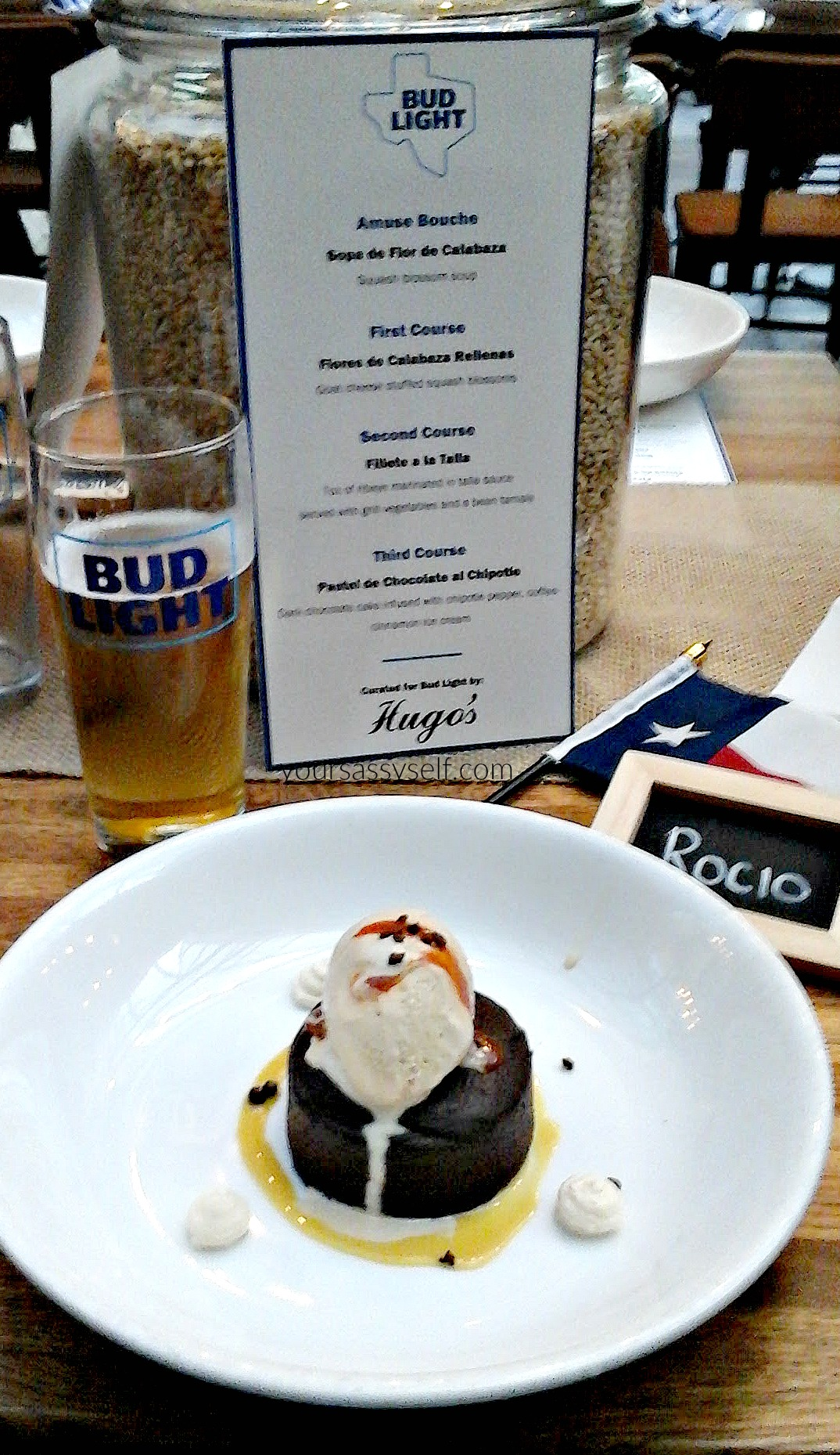 Bud Light Pairing with Chocolate Chipotle Cake - yoursassyself.com