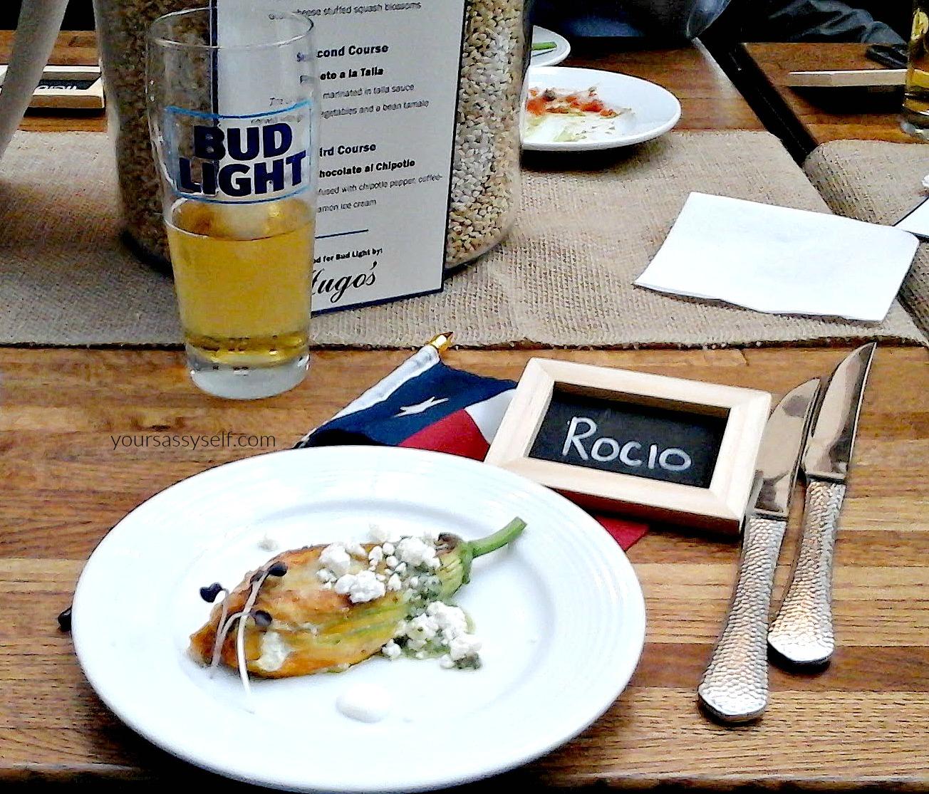 Bud Light Pairing with Stuffed Squash Blossom - yoursassyself.com