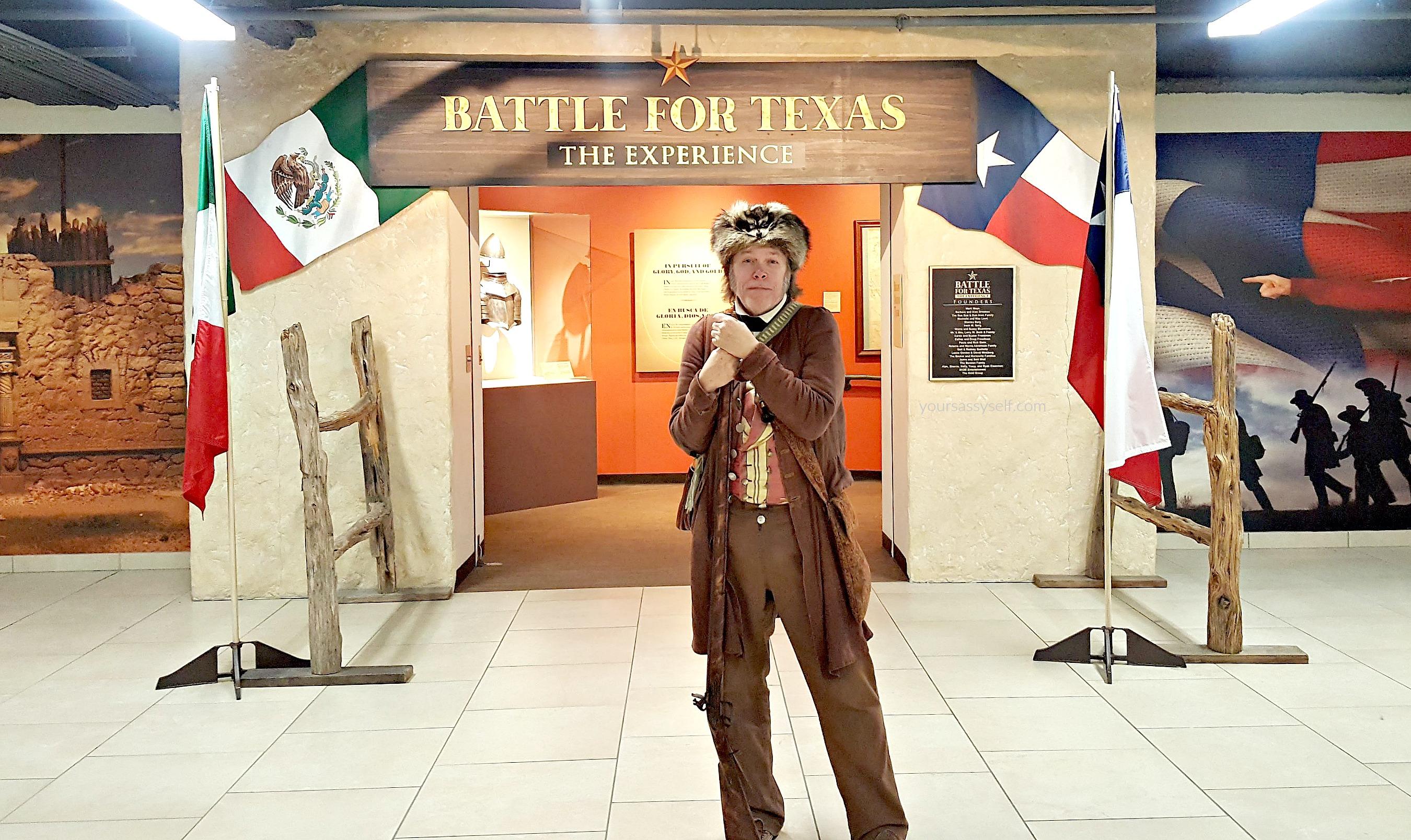 Davy Crockett at Battle for Texas - yoursassyself.com