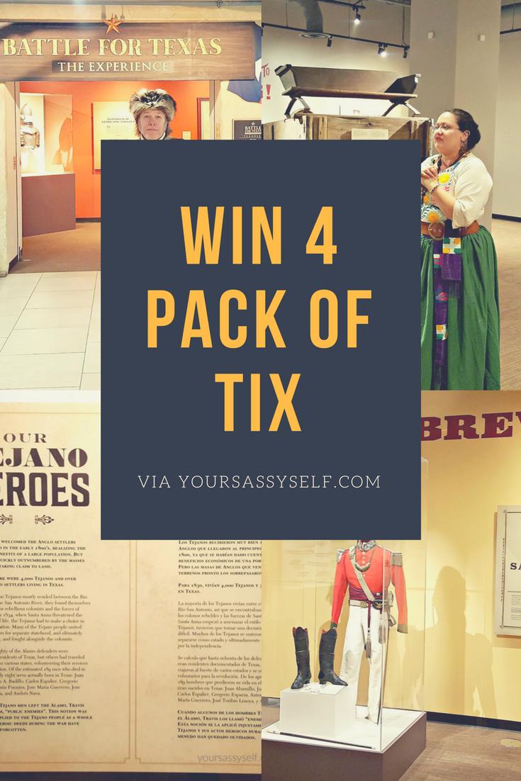 Win Battle for Texas Tickets via yoursassyself.com