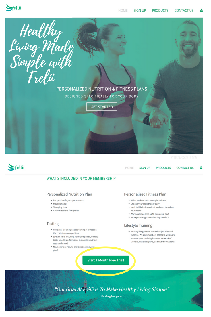 Healthy Living Made Simple with Frelii + 1 Month Free Trial - yoursassyself.com