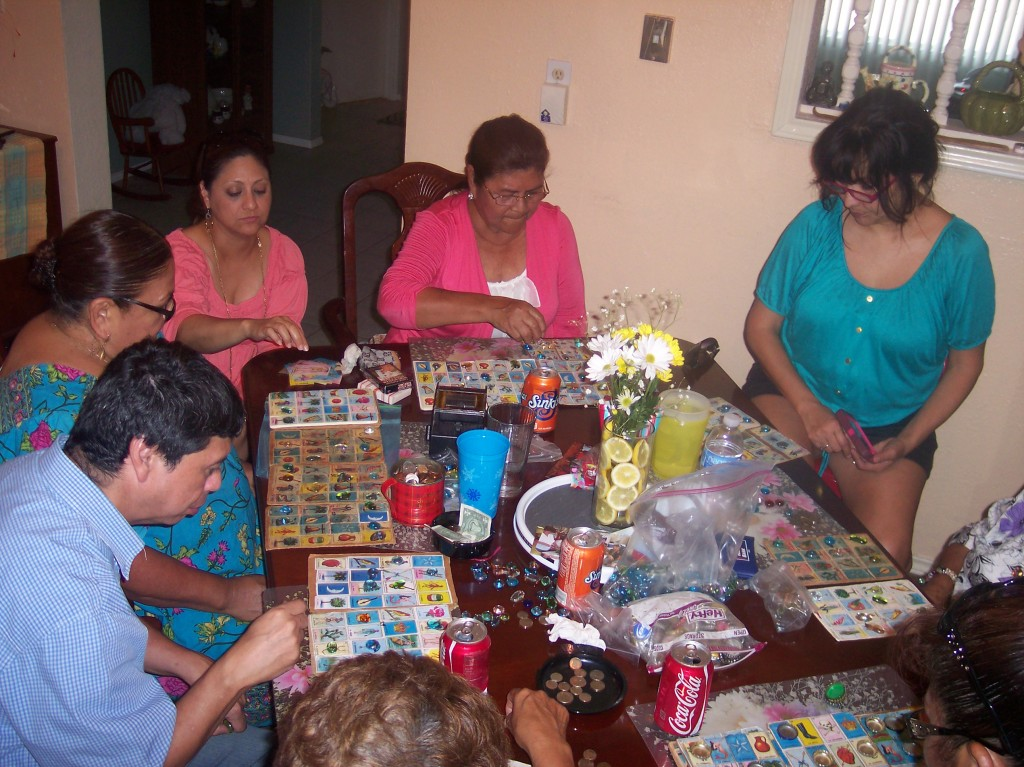 Family playing loteria - yoursassyself.com