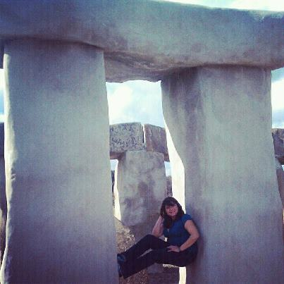 Re-enacted what senior pics may have looked like at Stonehenge High :)