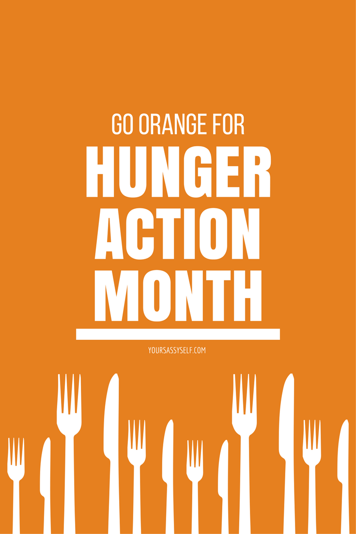 Go Orange for Hunger Action Month - yoursassyself.com