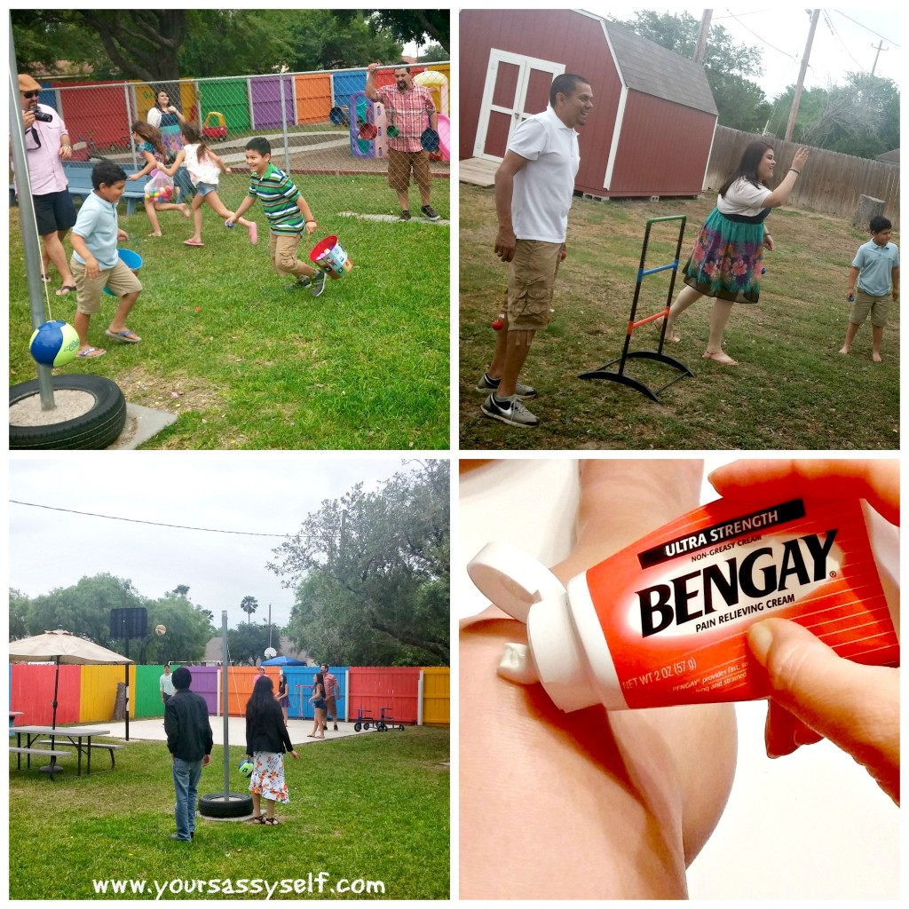 Outdoor fun = Bengay rub down #ad