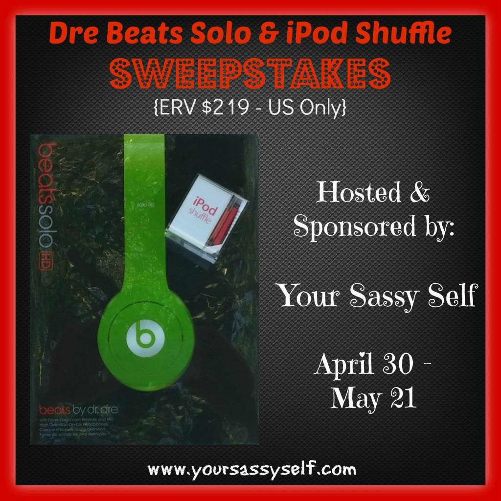Dre Beats Solo iPod Shuffle Sweepstakes-yoursassyself.com