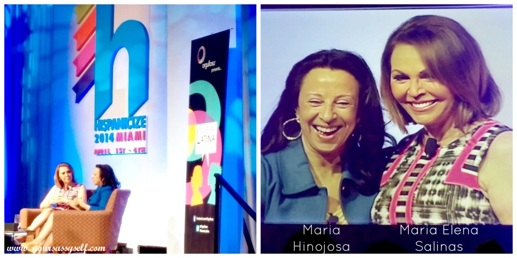 #Latinavator Maria Hinojosa and Maria Elena Salinas at #HISPZ14