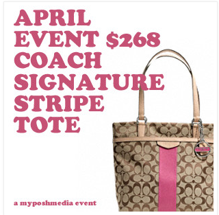 COACH Signature Stripe Tote Giveaway