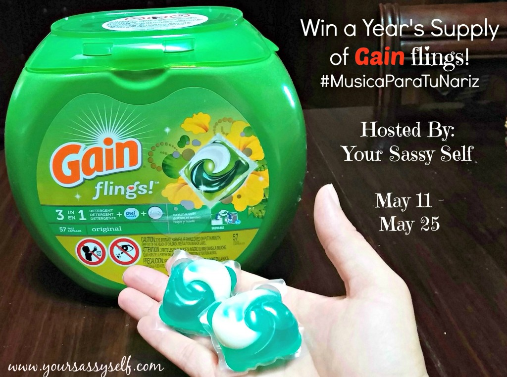 Win a Yrs Supply of Gain Flings-yoursassyself.com