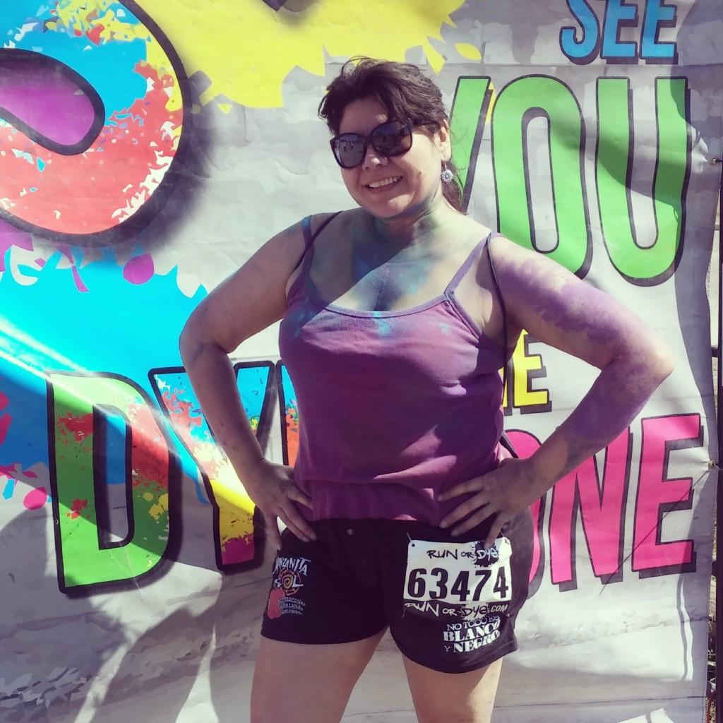 Me After Run or Dye San Antonio 2014-yoursassyself.com
