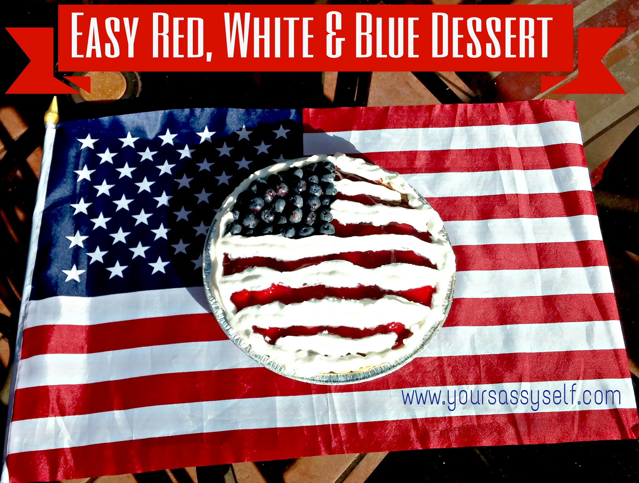 Super Easy Red White and Blue Dessert for the 4th of July