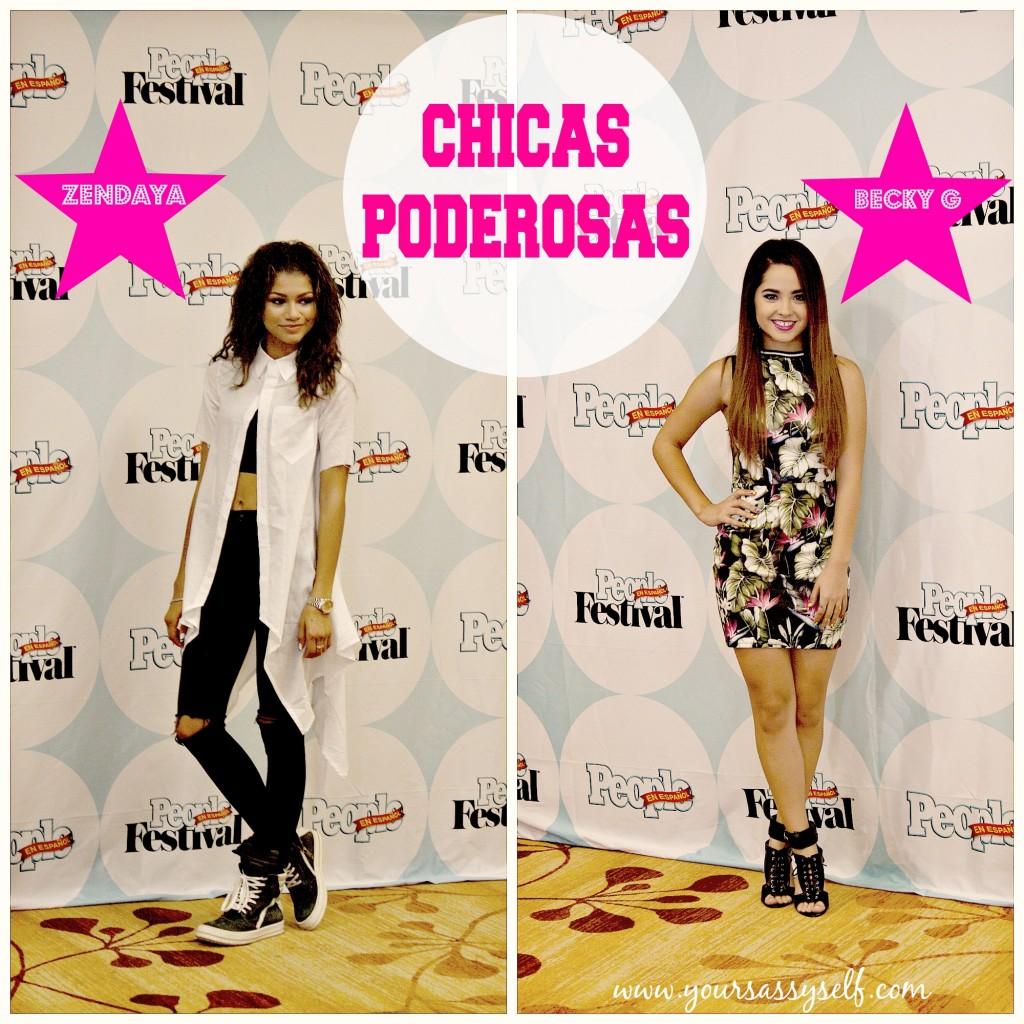 Chicas Poderosas Zendaya & BeckyG at FestivalPeople-yoursassyself.com