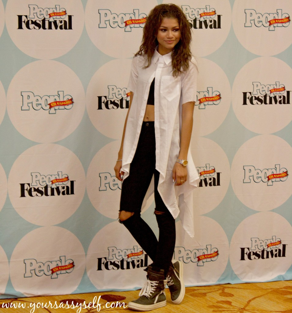 Zendaya during #FestivalPeople Press Conference-yoursassyself.com