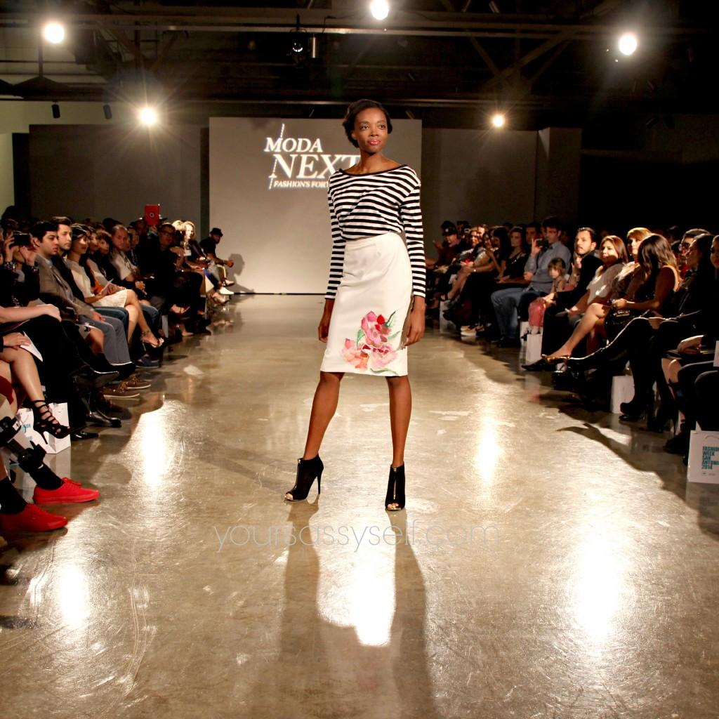 Blanquita Sullivan Stripped Top Painted Skirt-yoursassyself.com