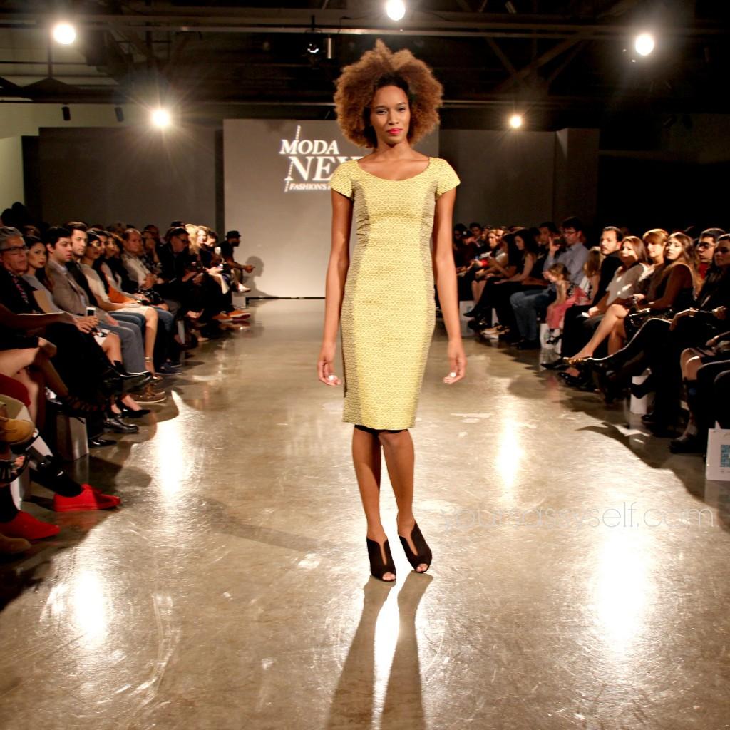 Blanquita Sullivan Yellow n Grey Dress-yoursassyself.com