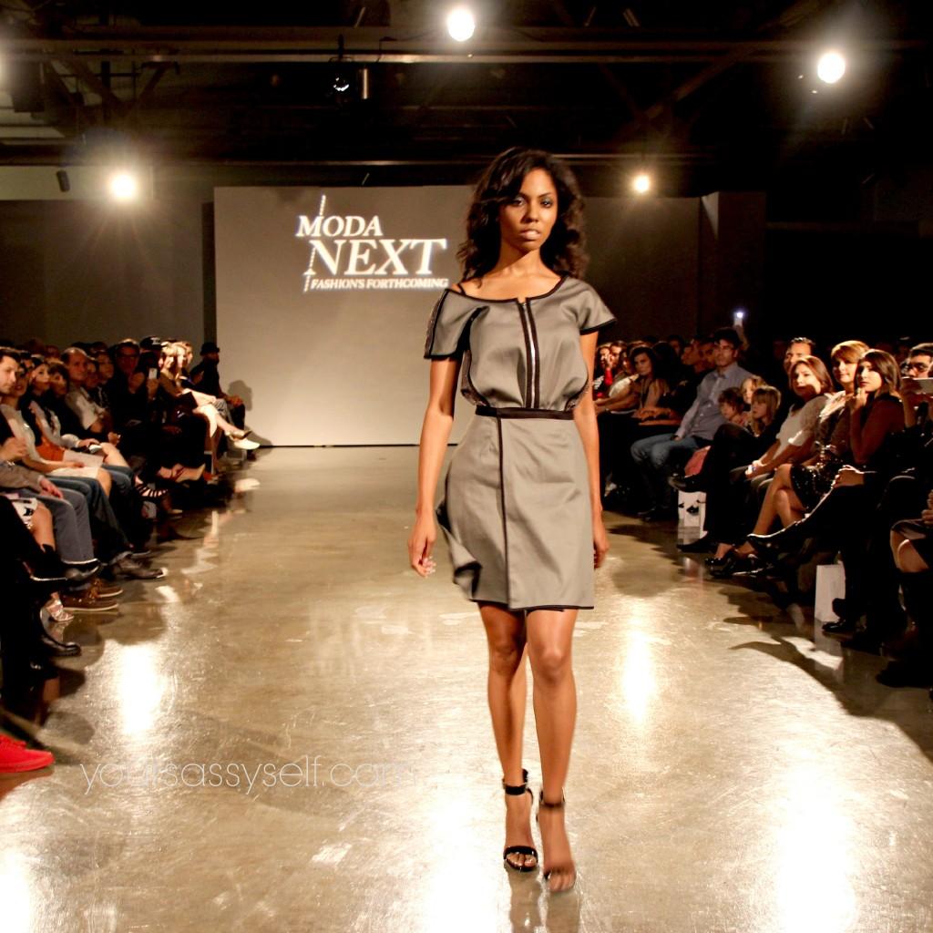 Valerie Perez Grey Dress-yoursassyself.com