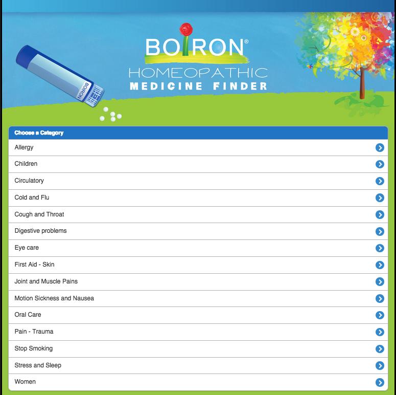 Boiron Medicine Finder-yoursassyself.com