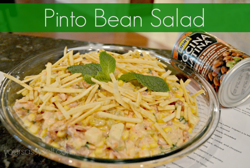 Bushs Pinto Bean Salad-yoursassyself.com